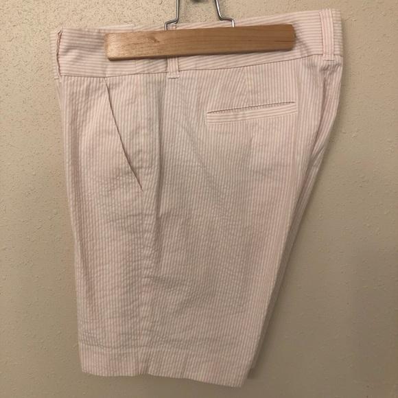 J. Crew Pants - J. Crew Pink Seersucker Bermuda Shorts 8